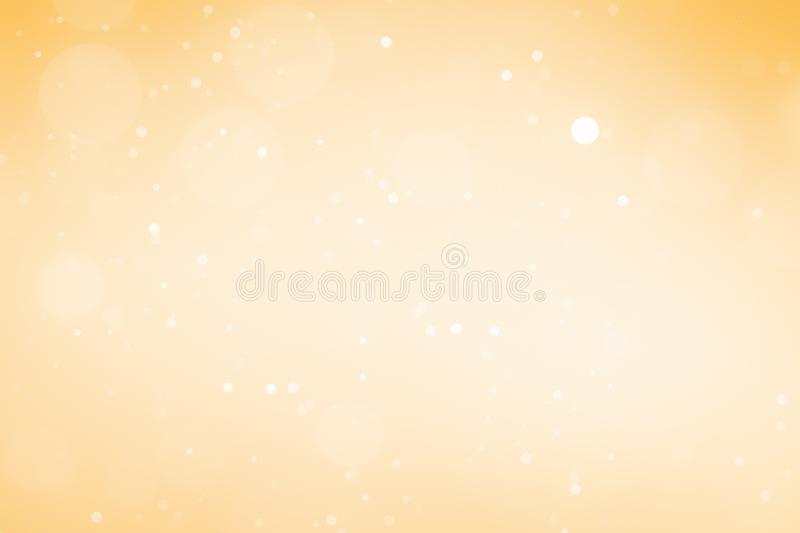 Christmas Background. Golden Holiday Abstract Glitter Defocused Background With Blinking Stars. Blurred Bokeh royalty free illustration