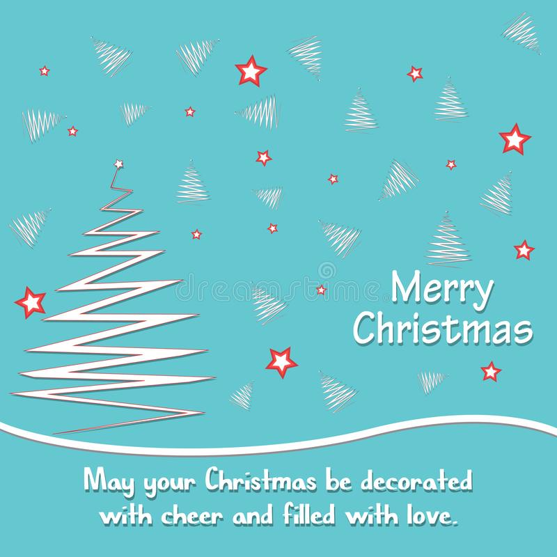 Christmas background with greeting text, star, Merry Christmas and Happy New Year card vector illustration