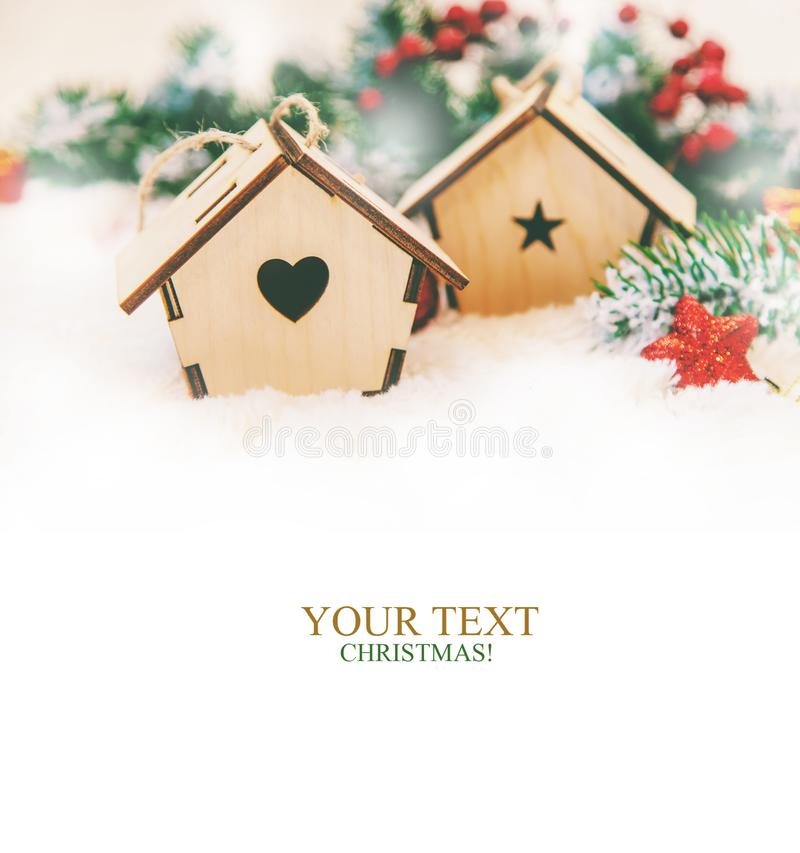 Free Christmas Background. Happy New Year. Selective Focus Royalty Free Stock Photos - 132020158