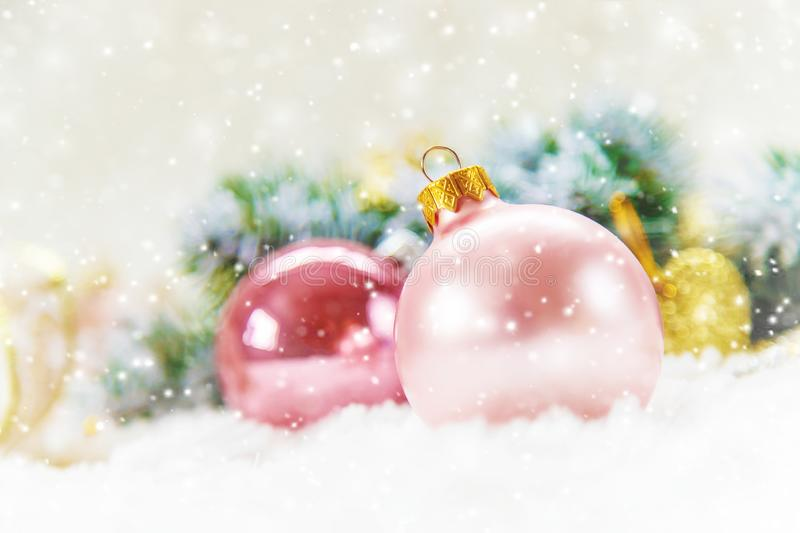 Christmas background. happy New Year. Selective focus royalty free stock image