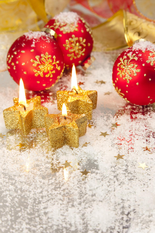 Download Christmas Background / Holiday Candles Stock Image - Image of december, bauble: 11313399