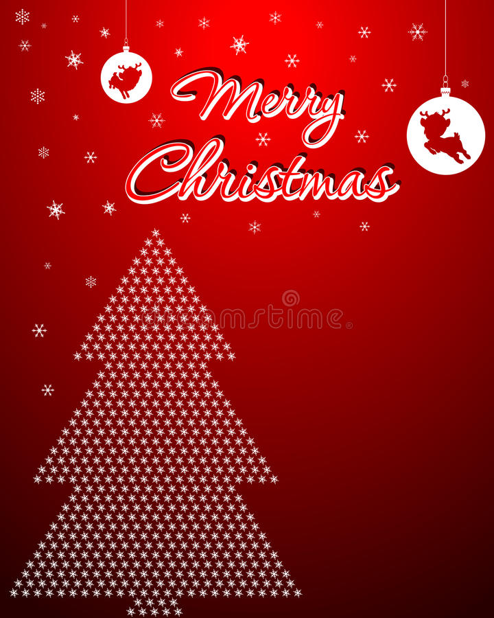 Download Christmas Background With X-Mas Tree Stock Vector - Image: 27544487