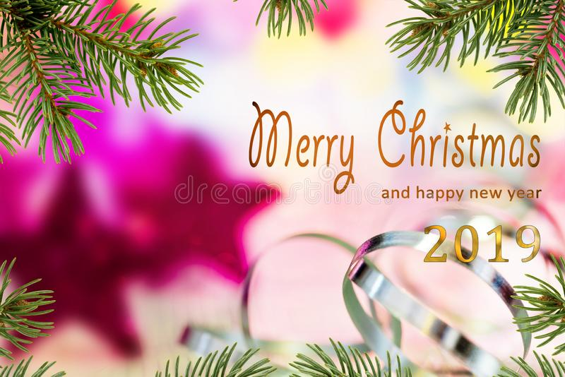 Merry Christmas and happy new year 201 royalty free stock image