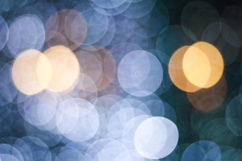 Christmas background with natural bokeh lights royalty free stock photo