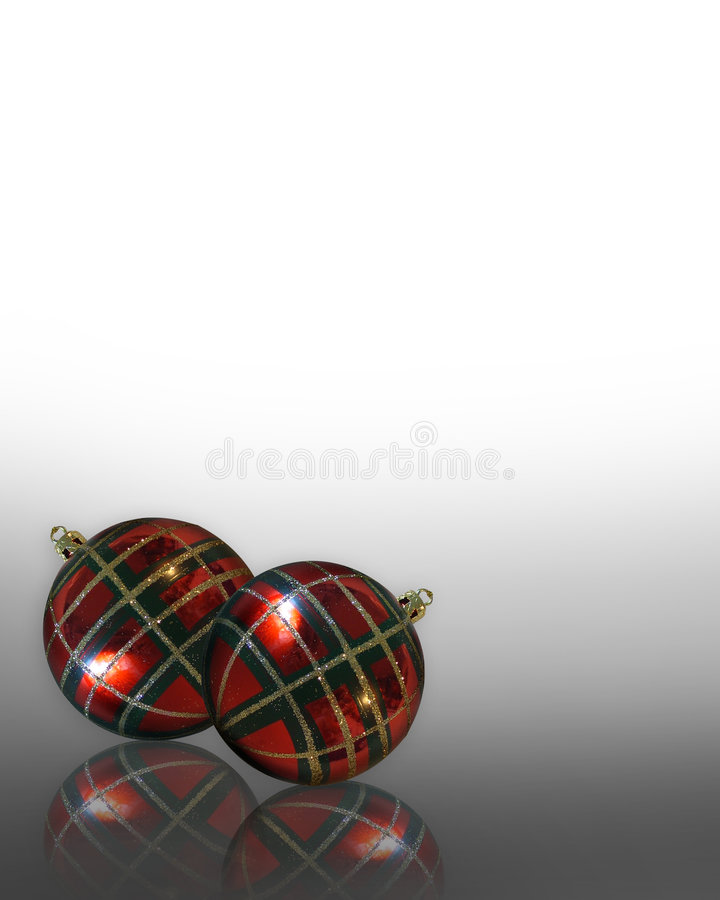 Download Christmas Background Ornaments Plaid Stock Illustration - Image: 6883299