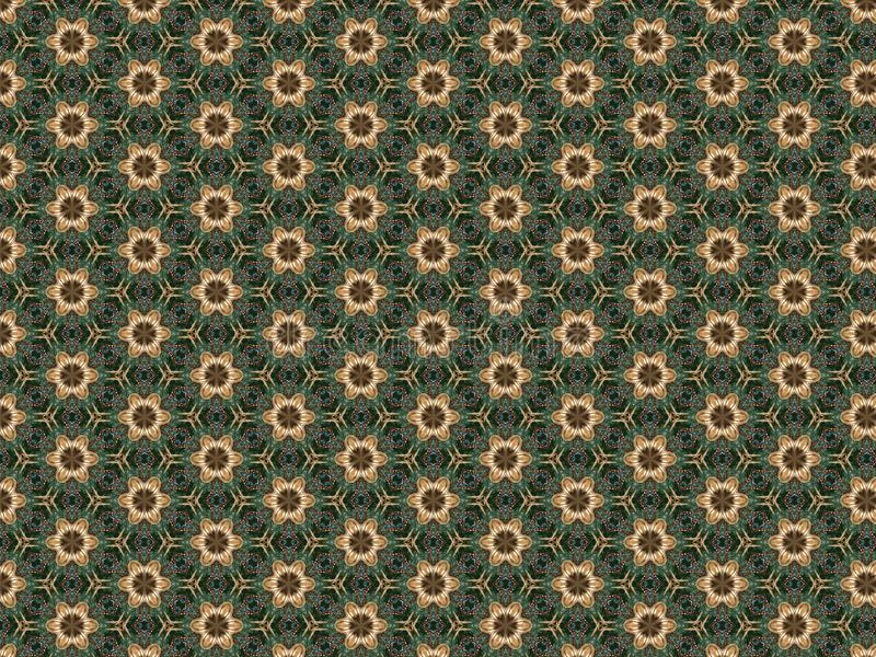 Christmas background with plastic toy flower brown and beads.  stock illustration