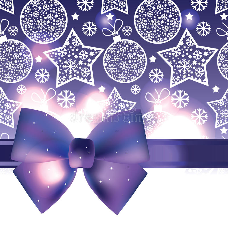 Download Christmas Background With Purple Bow Royalty Free Stock Image - Image: 34321486