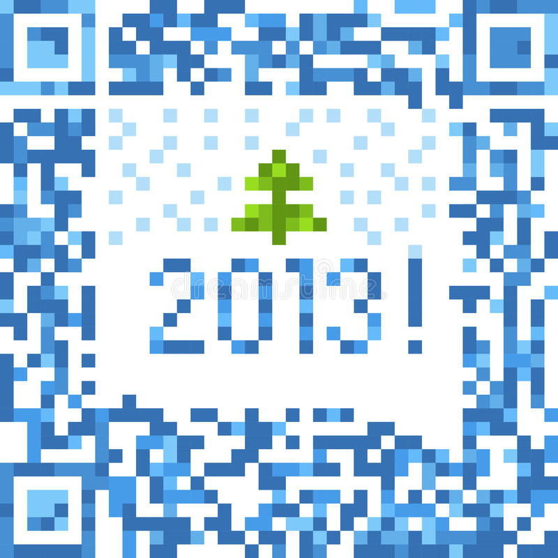Christmas background of qr-code royalty free illustration