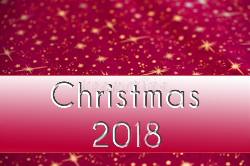 Christmas background red with stars and banner with text royalty free stock photography