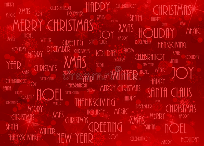 Christmas background red. With words royalty free illustration