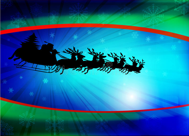 Christmas Background With Santa Stock Images