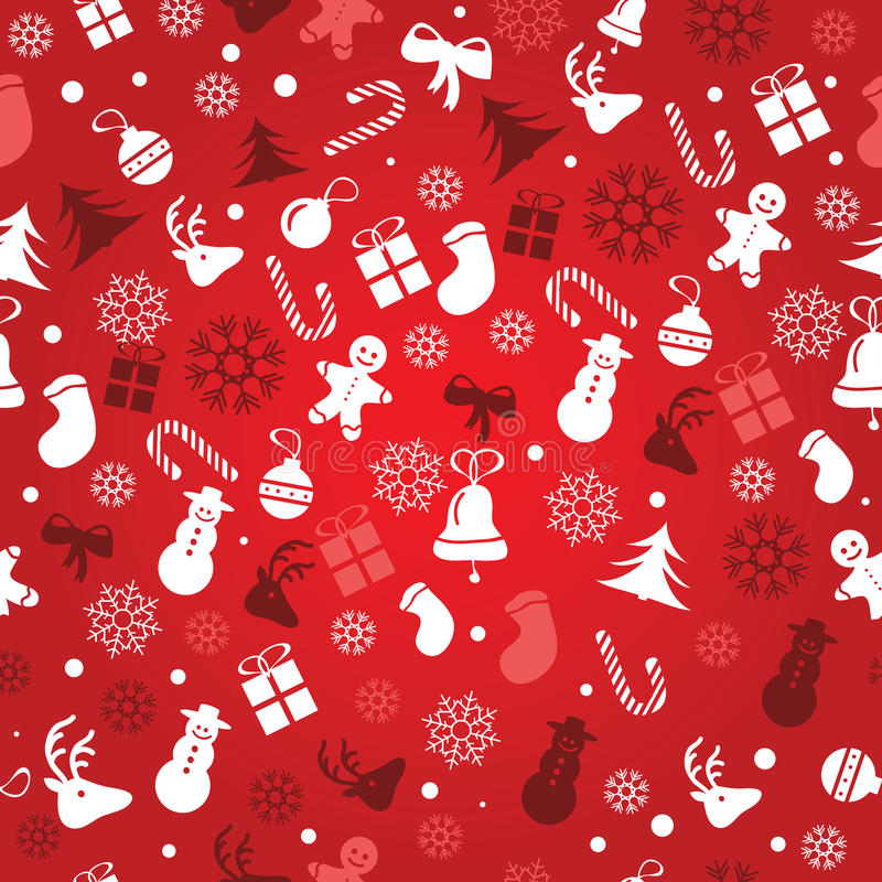 Free Christmas Background, Seamless Tiling, Great Choice For Wrapping Paper Pattern Stock Photography - 47470022