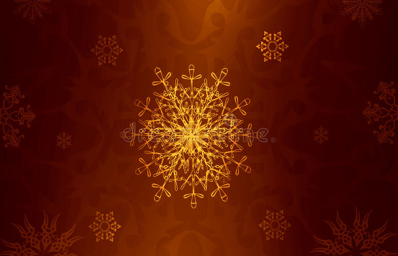 Christmas background. With snowflakes royalty free illustration