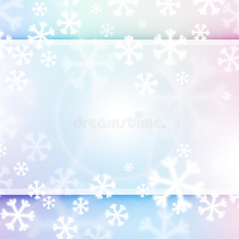 Free Christmas Background, Snowflakes And Soft Colors Stock Photos - 36262523