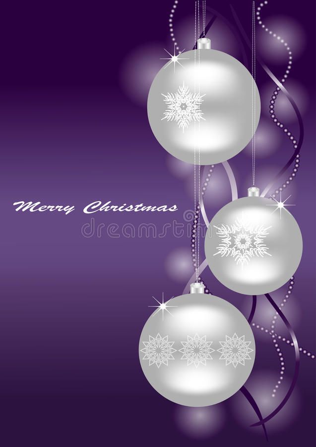 Christmas background. Snowflakes on the balls. stock image