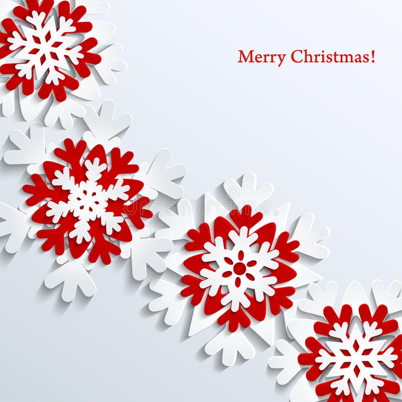 Christmas background with snowflakes royalty free illustration