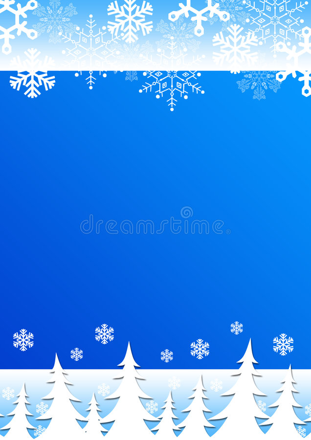 Download Christmas Background Snowflakes Trees. Royalty Free Stock Photos - Image: 6975038