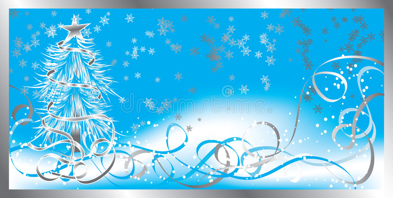 Christmas background with snowflakes, vector royalty free illustration