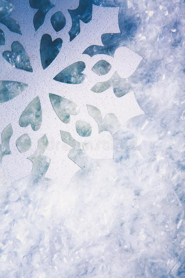 Christmas background with snowflakes on white.  stock illustration