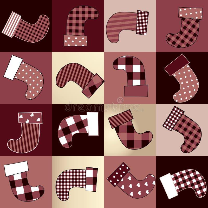 Download Christmas Background Of Socks Stock Vector - Illustration: 33849459