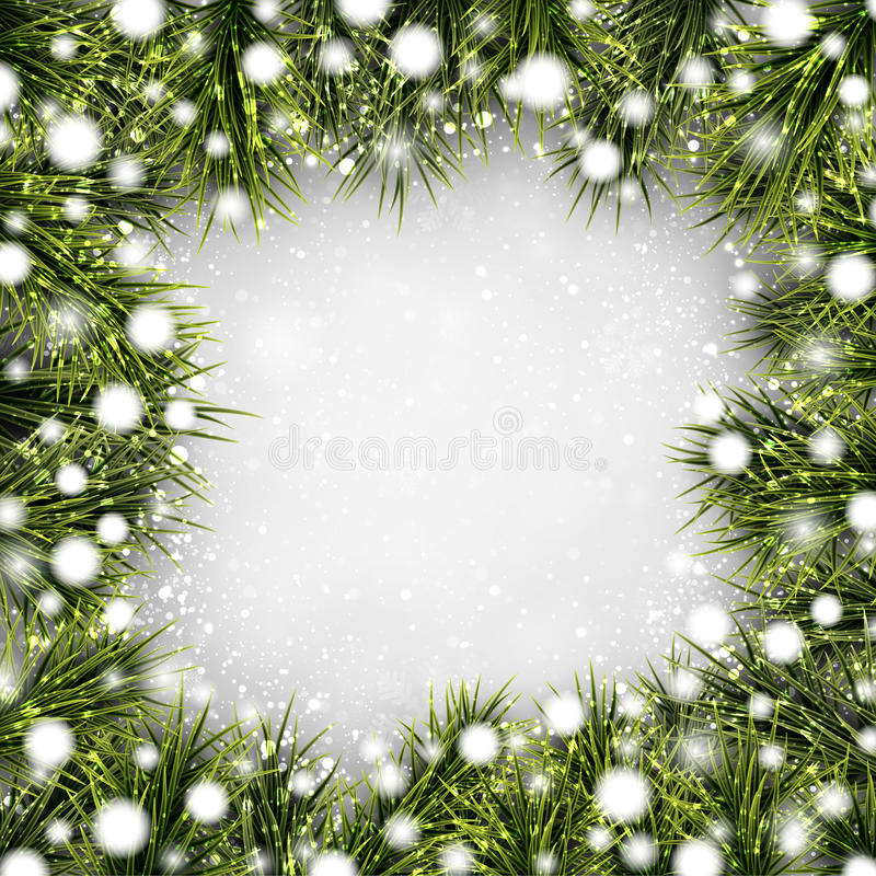 Christmas background with spruce branches. stock illustration