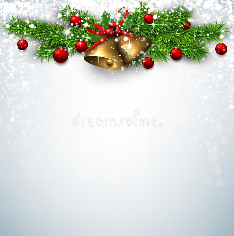 Christmas background with spruce branches vector illustration