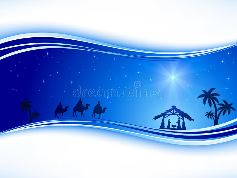 Christmas background with star stock illustration