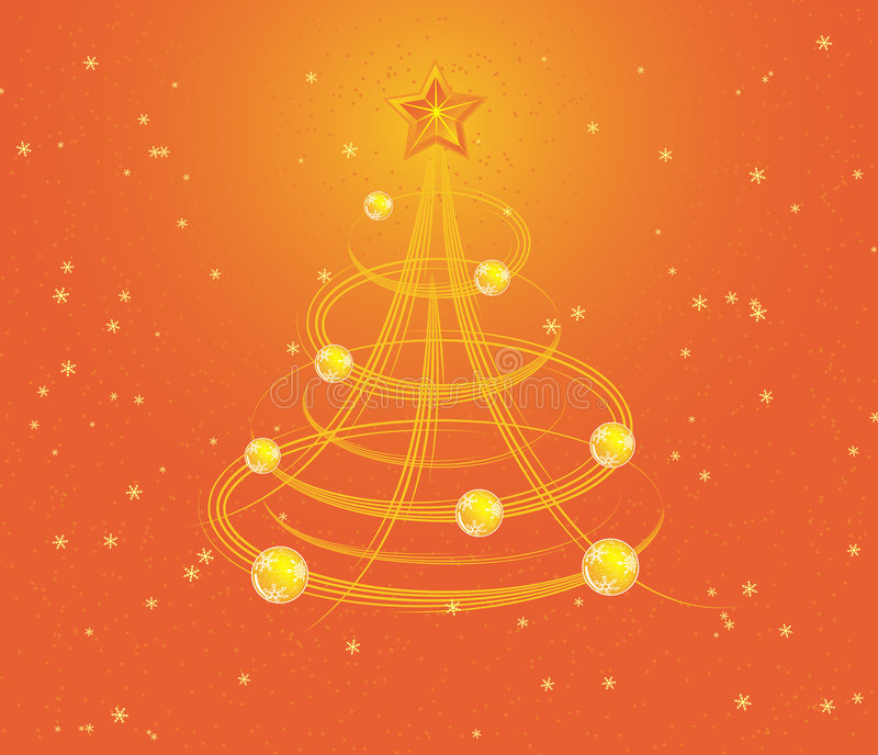 Christmas background with stylized tree, vector stock illustration