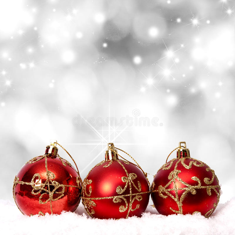 Christmas background. With traditional decor of the parties stock photography
