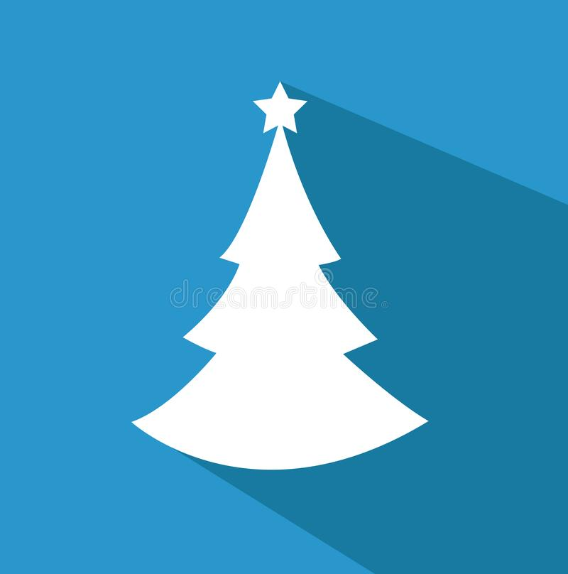 Christmas background with tree. Vector vector illustration