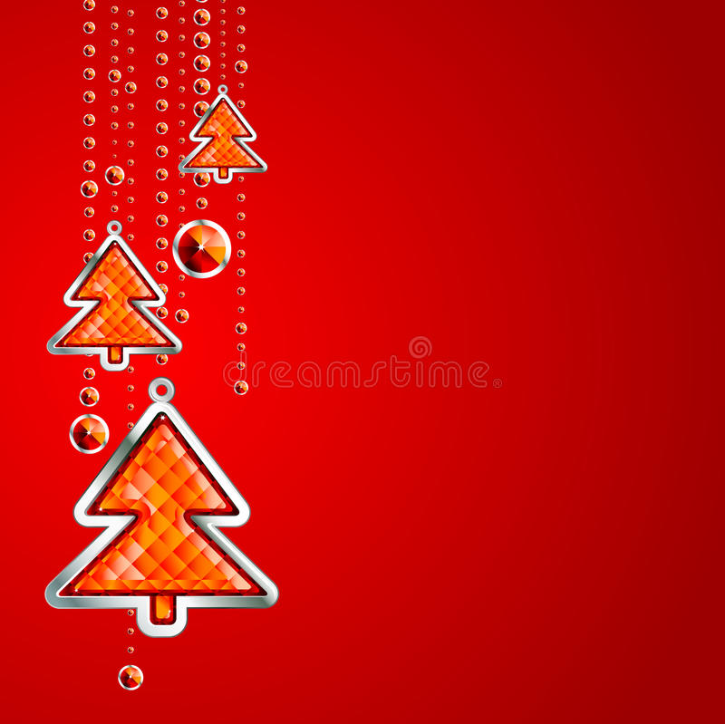 Christmas background with tree vector illustration