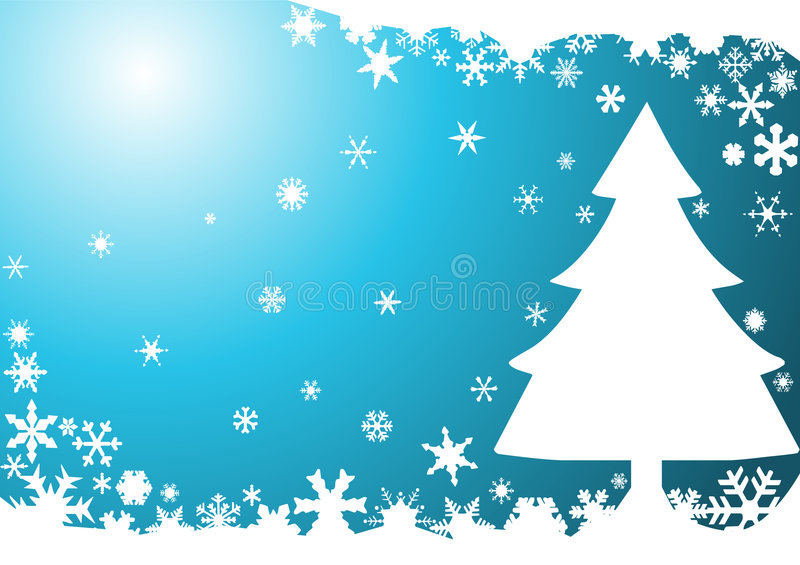 Christmas background with tree. Vector illustration stock illustration