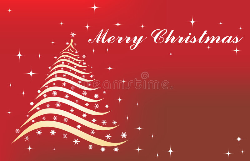 Christmas background with tree. Vector stock illustration