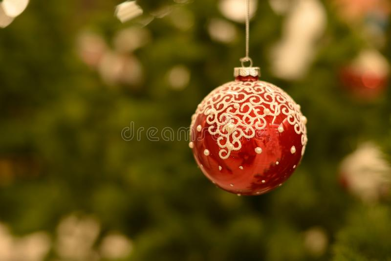 Christmas background, with Christmas tree. And decorations stock images