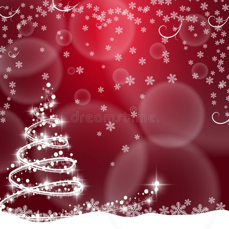 Christmas background with Christmas tree, vector illustration. stock illustration