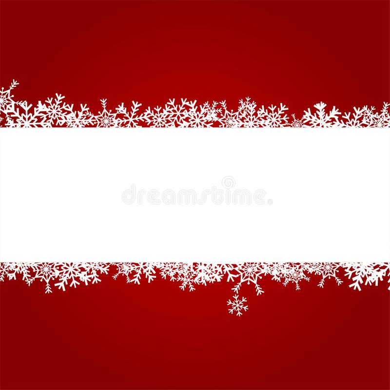 Christmas Background with White Snowflake, Winter Celebration, Merry Christmas Card, Seasonal holiday stock images