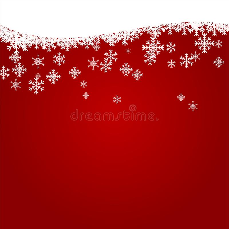 Christmas Background with White Snowflake, Winter Celebration, Merry Christmas Card, Seasonal holiday royalty free stock photos