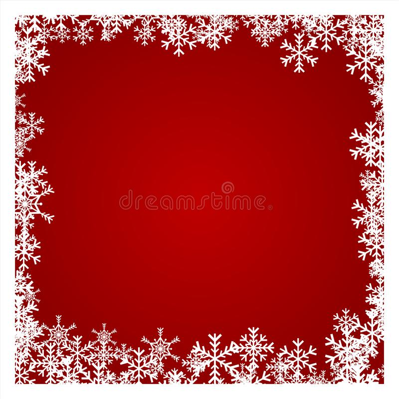 Christmas Background with White Snowflake, Winter Celebration, Merry Christmas Card, Seasonal holiday royalty free stock photography