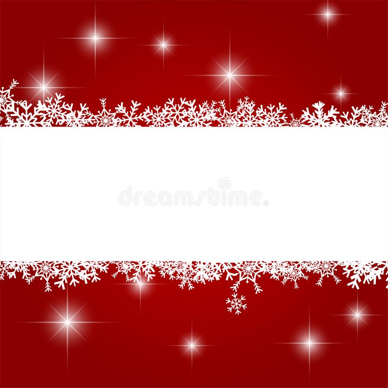 Christmas Background with White Snowflake, Winter Celebration, Merry Christmas Card, Seasonal holiday stock photo