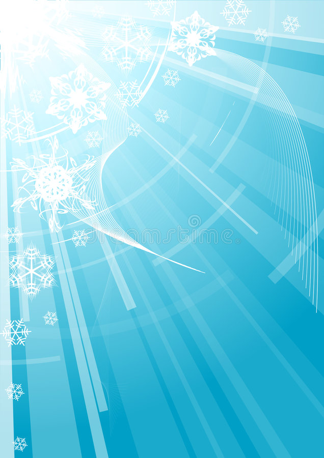 Christmas background with white snowflakes stock illustration