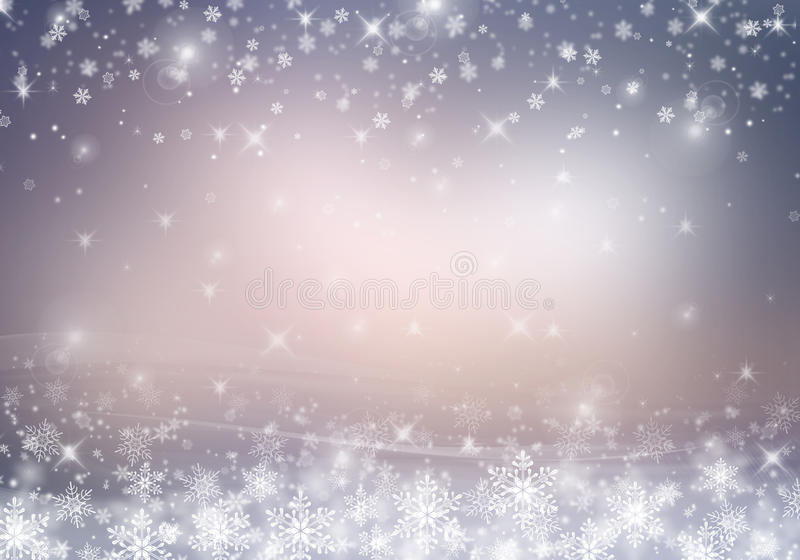 Christmas background. White snowflakes on a Christmas background. Space for text stock illustration