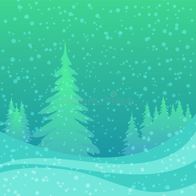 Free Christmas Background, Winter Forest Stock Image - 44154421