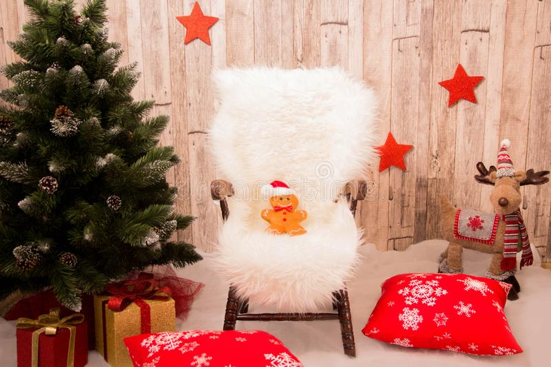 Christmas background for winter holiday stock photography