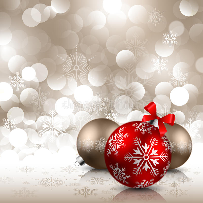 Free Christmas Background With Baubles Stock Photo - 16906960