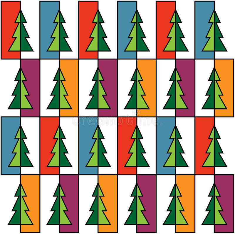 Free Christmas Background With Colorful Trees Royalty Free Stock Photography - 46439117