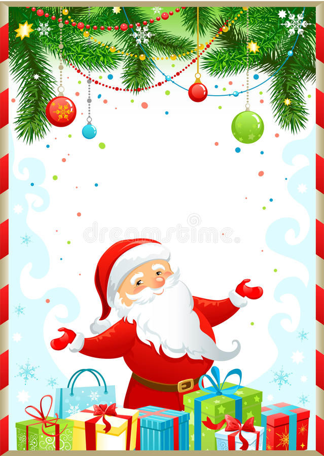 Free Christmas Background With Santa Claus Stock Image - 17246311