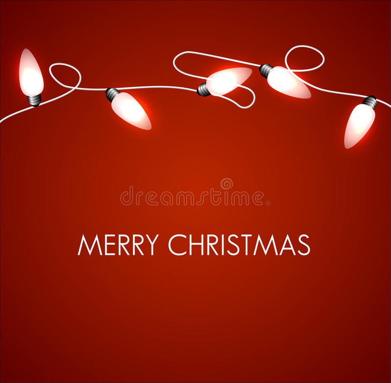Free Christmas Background With White Lights Stock Photography - 22017382