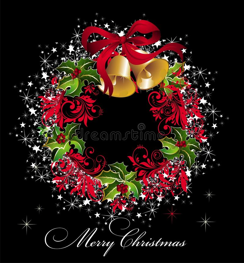 Free Christmas Background With Wreath Royalty Free Stock Images - 16693299