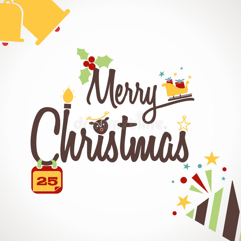 Christmas background. With the words Merry Christmas vector illustration