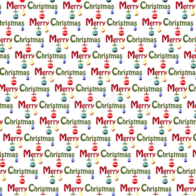 Christmas background wrapping paper. Christmas background or wrapping paper, red, blue, yellow and green. Merry Christmas in words vector illustration